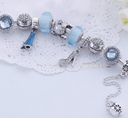 Charming Light Blue and Silver colour bracelet with Fashion themed charms Jewellery & Watches Iconix