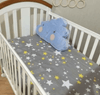 Fitted Woven Cotton Baby Bedding sheet Kids Iconix