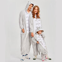 Grey Cat Onesie for Adults Iconix