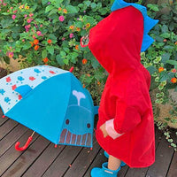 Kids Dinosaur Raincoat - Red Iconix