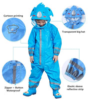 Kids One Piece Animal Raincoat - Blue Koala Bear Iconix