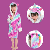 Kids Pink & Blue Starry Unicorn Gown Fashion Iconix