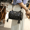 Ladies PU Leather Studded Skull Clutch Bag Bag Iconix