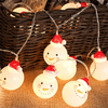LED String Lights with Christmas Snowman Pendant Iconix