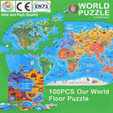 Mideer World Map Puzzle-104 pieces Kids Iconix
