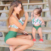 Mother or Daughter Matching Swimsuit - Green bikini Iconix