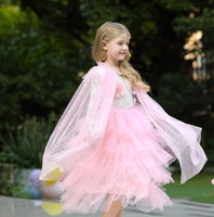 Pink Kids Hooded Cape E82 Iconix