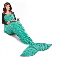 Pleated Mermaid Tail Blanket (Adult/Teen Size) Blue, Green & Pink Colours | 608 Iconix Green