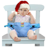 The Washable High Chair Harness Straps Kids Iconix Blue