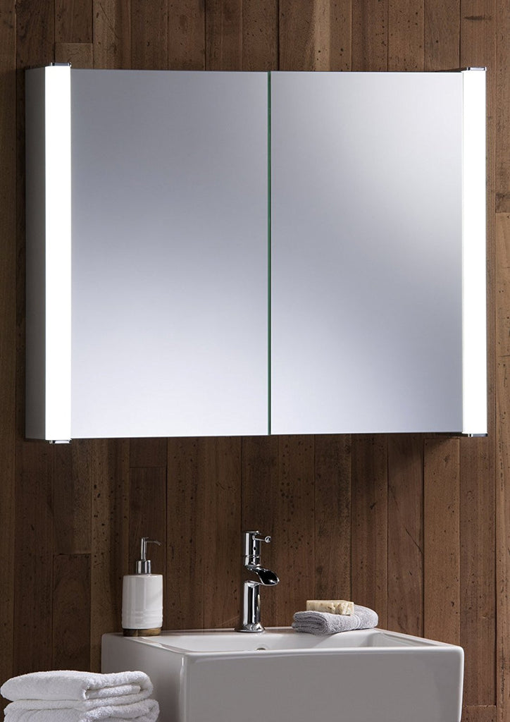 LED Illuminated Bathroom Mirror Cabinet | two shelves | sensor ... on curtains with shelf, bathroom mirror with cabinet, bath tub with shelf, bathroom vanity mirrors for frames, bathroom shelves pottery barn, bathroom mirror with wood trim, bathroom mirrors at lowe's, kitchen with shelf, wash basin with shelf, bathroom mirror with electrical outlet, rack with shelf, bathroom sink shelf, bathroom cabinets product, bathroom mirror with bluetooth, bathroom mirror with lights, bathroom vanity large mirrors, bathroom tongue and groove walls, bathroom mirrors product, mirror display shelf, bathroom mirror with ledge,