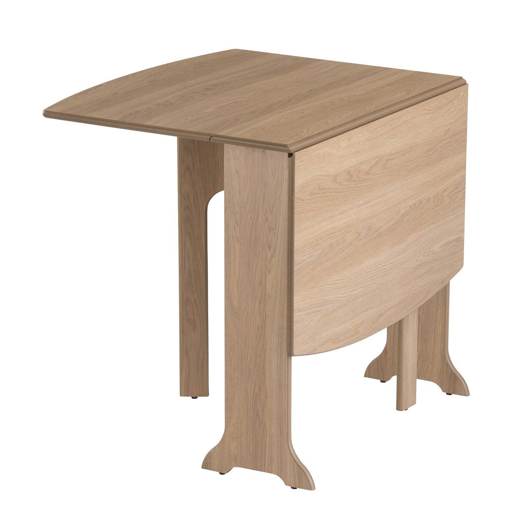 D-End Gateleg Drop Leaf Folding Table in Natural Oak ED-190D-LO
