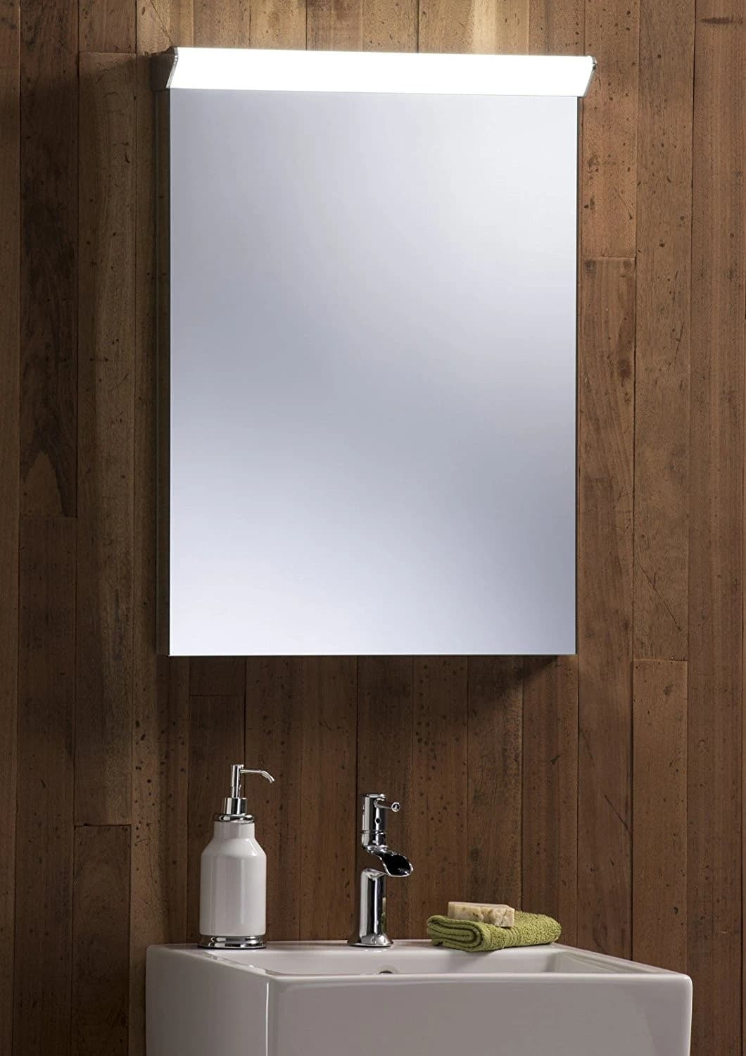 bathroom cabinet mirror illuminated