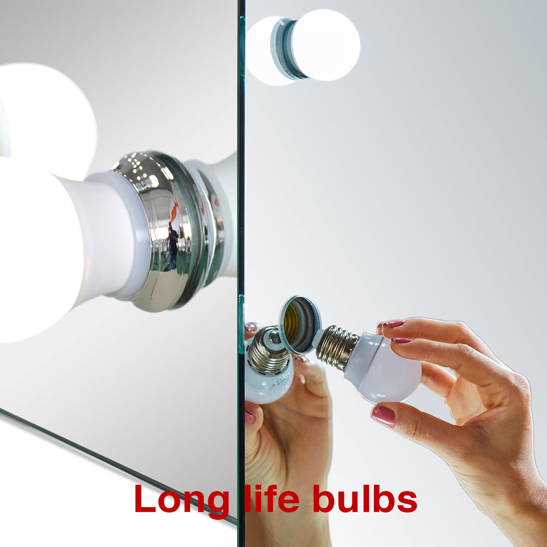 Long life bulbs. Hollywood Mirror - Mood Living