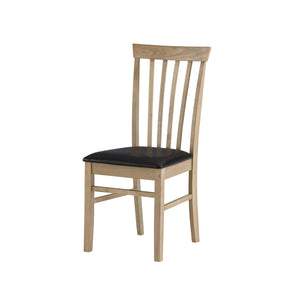 Kitchen Dining Chair - Natural Oak Finish DC-VIC-NO-B