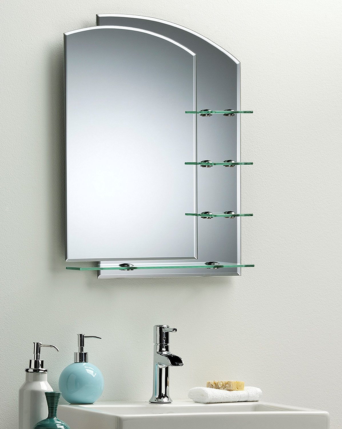 Double Layer Bathroom Mirror