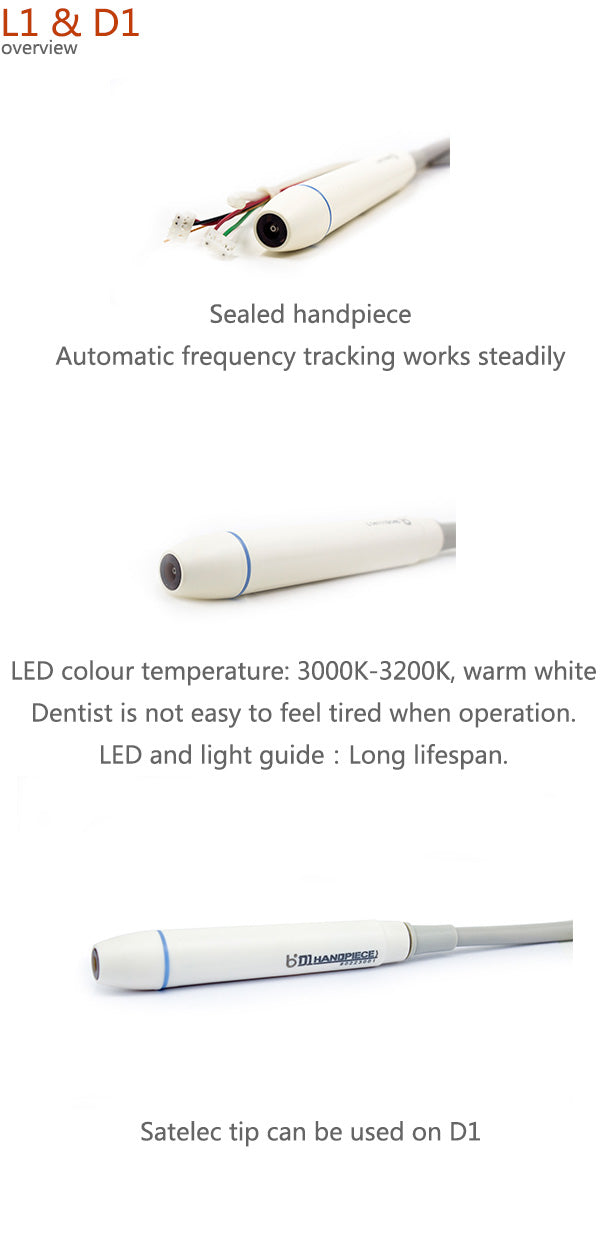 Undetachable LED Handpiece for Ultrasonic Scaler - Baolai L1/D1