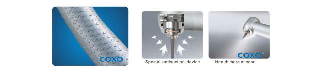 COXO/YUSENDENT®CX207-A-TP Dental Torque Push Clean Head High Speed Handpiece