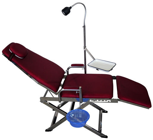 LYC9601-2 Red Dental Portable Folding Chair Unit