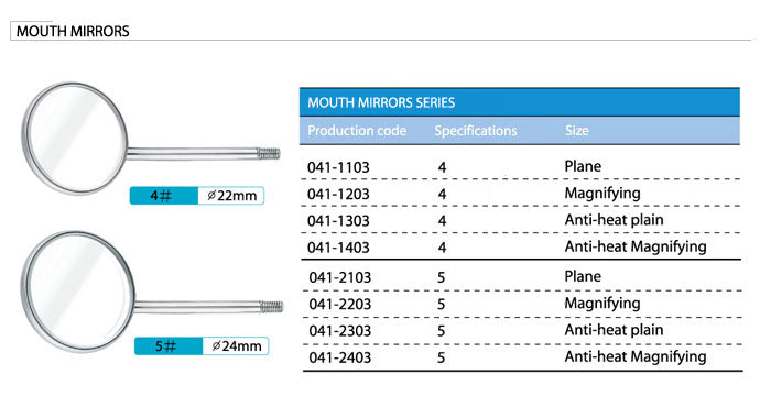 Dental Mouth mirrors 10 * Pieces