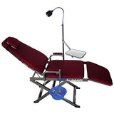 LYC9601-2-2 Red Dental Portable Folding Chair Unit