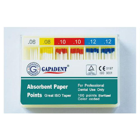 Gapadent® 5*Boxes Dental Endodontics Absorbent Paper Points Greater Taper GTF