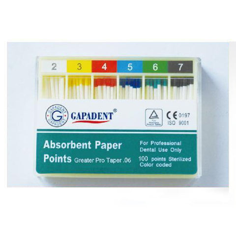 Gapadent® 5*Boxes Dental Endodontics Absorbent Paper Points Greater Pro #1-8