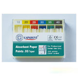 Gapadent® 5*Boxes Dental Endodontics Absorbent Paper Points Greater Taper .04-.12 ISO #15-80