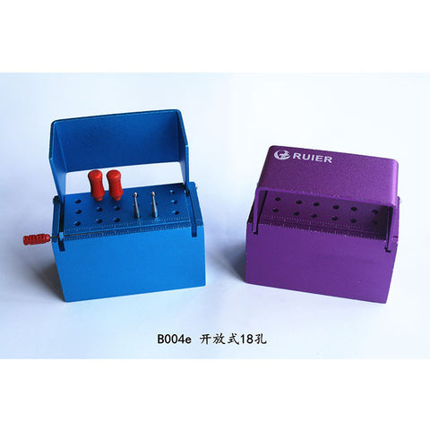 Ruier® B004e Dental Bur Block Autoclave Sterilizer Case Bur Holder 18 Holes
