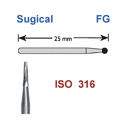 SBT® Surgical Burs FG Carbide Taper Flat End Burs 5 pcs/box or 10 pcs/box