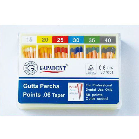 Gapadent® 5*Boxes Dental Endodontics Gutta Percha Points Greater Taper .04-.12 ISO #15-40