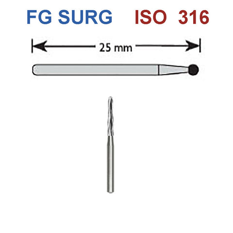 SBT® FG SURG152 Golden Safe End Burs 5 pcs/box