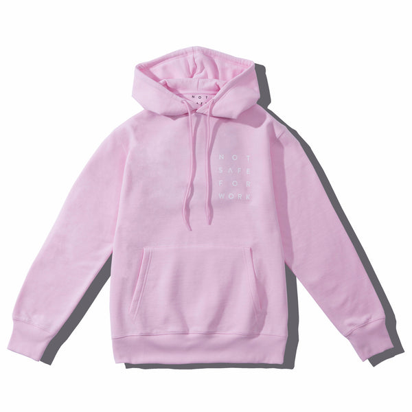 Hooded Fleece - Stacked Pink - nsfwclothing