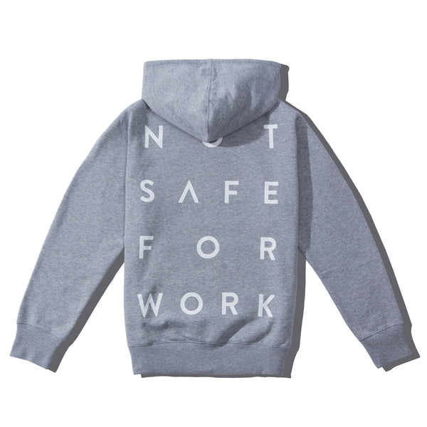 Hooded Fleece - Stacked Gray - nsfwclothing