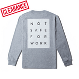 Long Sleeve Tee - Blocked Gray - nsfwclothing