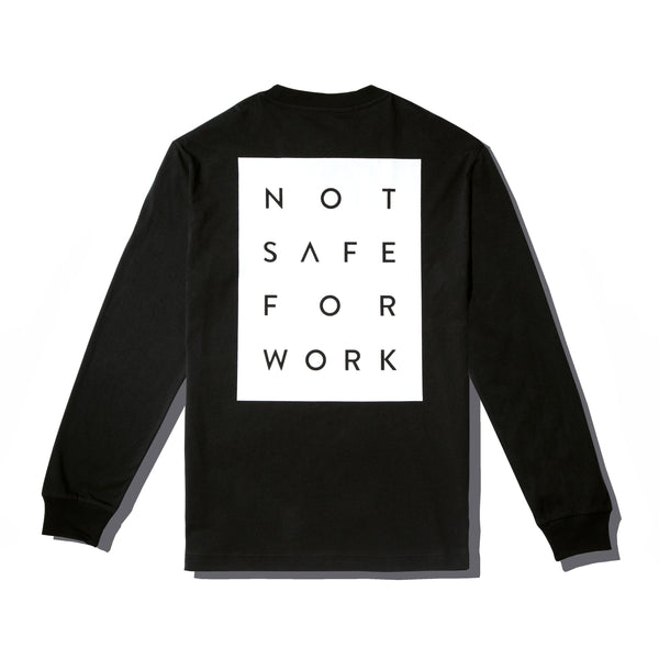Long Sleeve Tee - Blocked Black - nsfwclothing