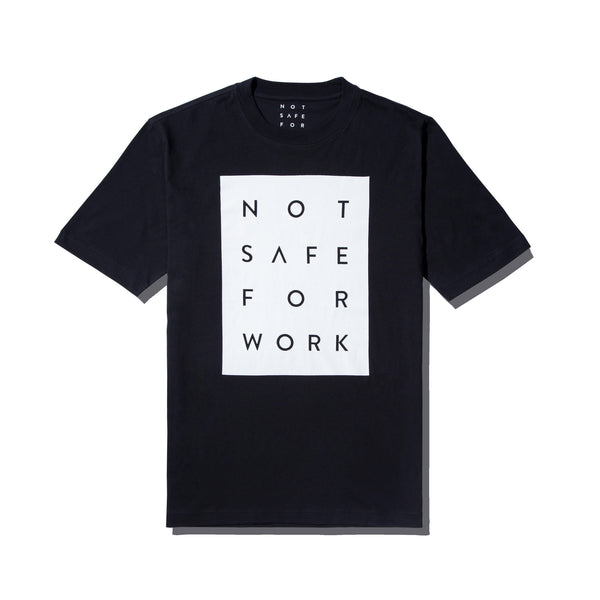 Tee - Blocked Black - nsfwclothing