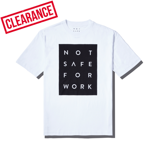 Tee - Blocked White - nsfwclothing