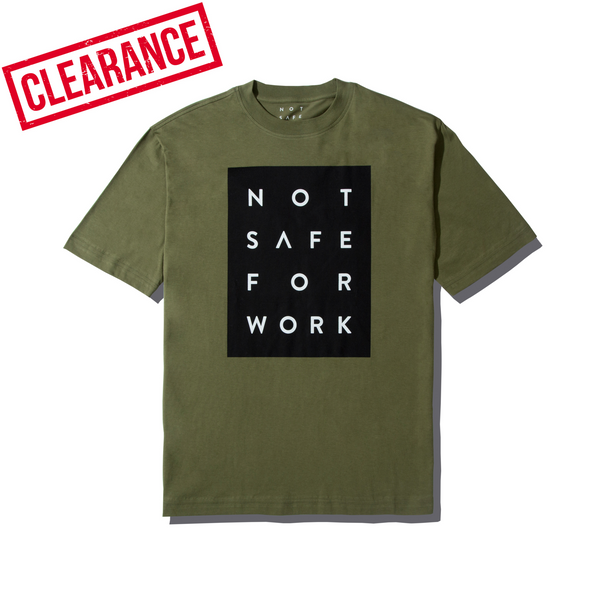 Tee - Blocked Olive - nsfwclothing