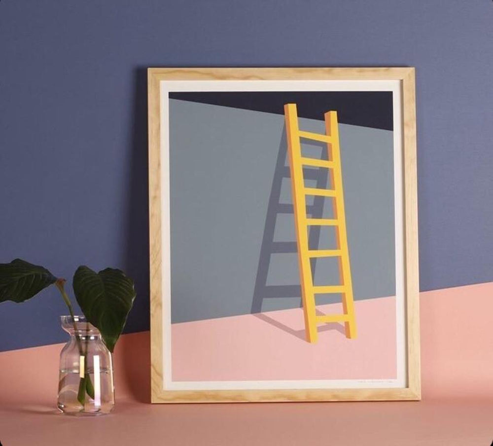 La Escalera Framed Art Print J