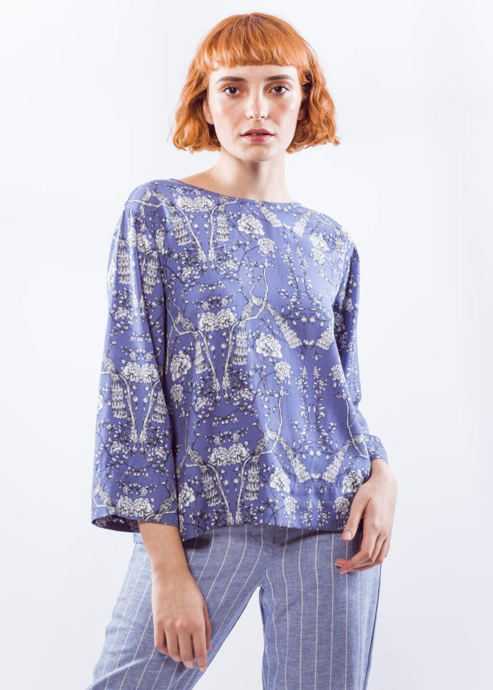 Purple Mantó Blouse