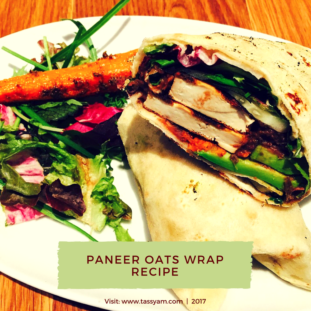 Paneer Oats Wrap Recipe