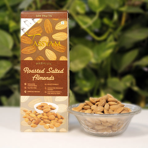 Oil-Free Roasted Salted Almonds - 250g Box