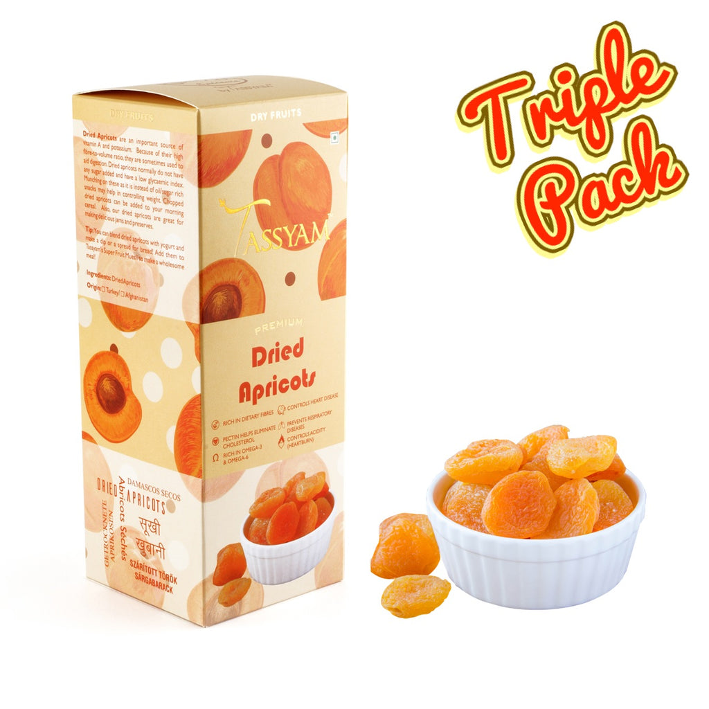 Turkish Dried Apricots - 600g (3x 200g) Boxe | Limited Period Pack