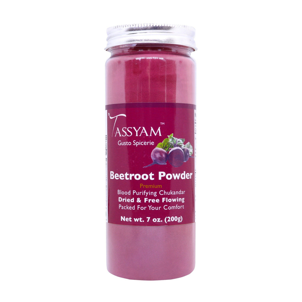 Tassyam Beetroot Powder 200g Bottle | Vegan & Natural, Spice, Tassyam - Best Indian Teas