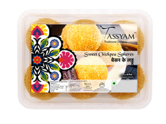 Tassyam Besan Laddu 500g Premium Box | Sweet Chickpea Spheres, , Tassyam - Best Indian Teas