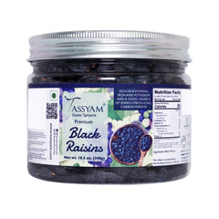 Tassyam Premium Black Raisins 300g Jar | Healthy Dry Fruits Luxury Box of Kali Draksh