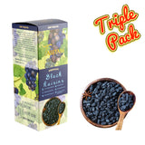 Seedless Afghan Black Raisins - 750g (3x 250g) Boxes | Limited Period Pack