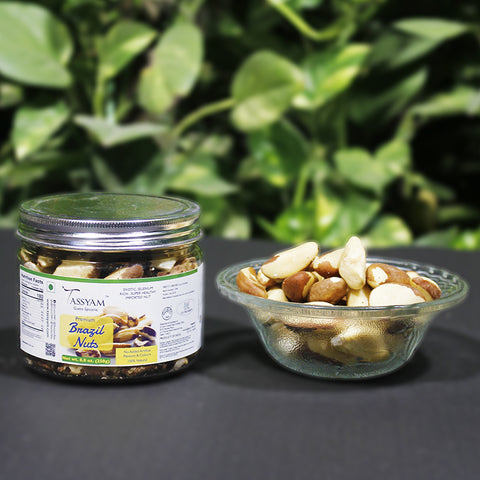Exotic Brazil Nuts 250g Jar | Premium Amazon Nut, Dry Fruit, Tassyam - Best Indian Teas