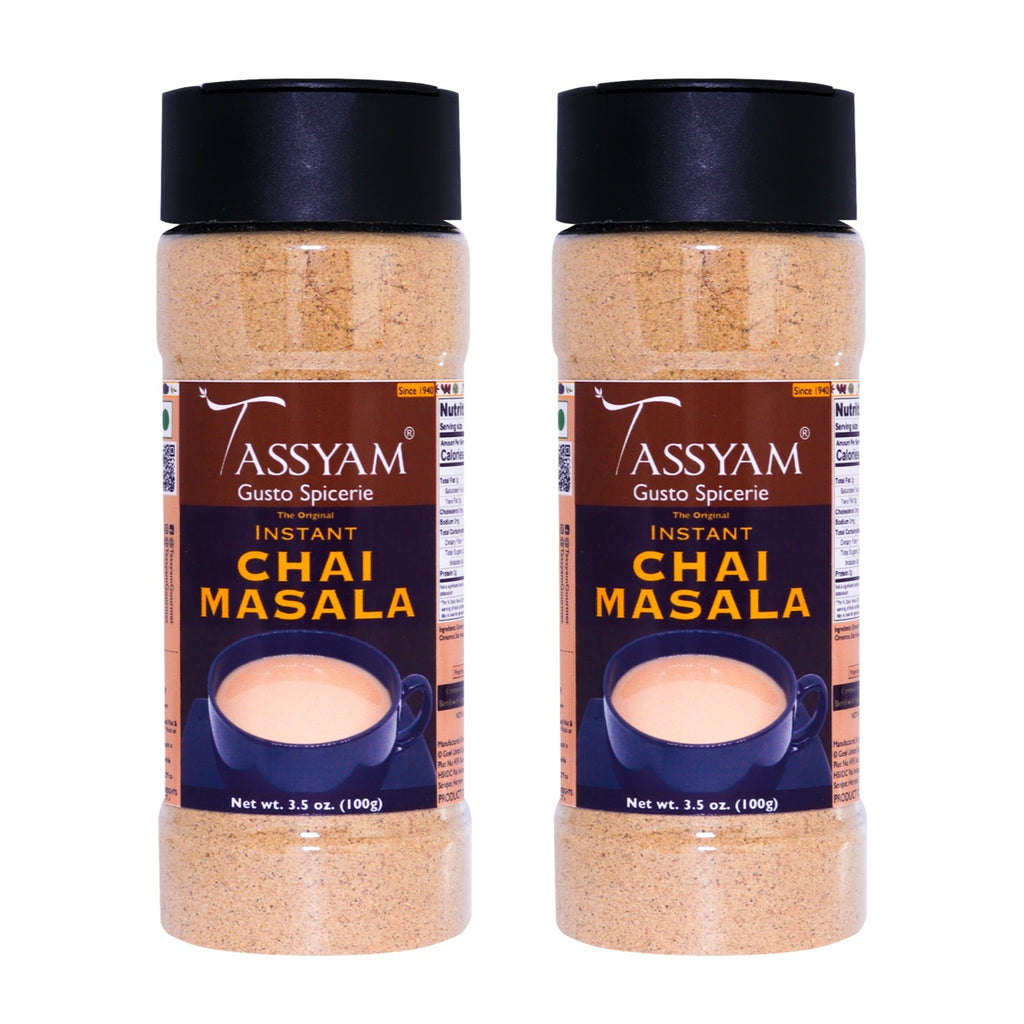Tassyam Premium Chai Masala, 200g (100g x2) | 15 Herbs & Spices, No Preservatives, Fillers & Sugar, Spice, Tassyam - Best Indian Teas