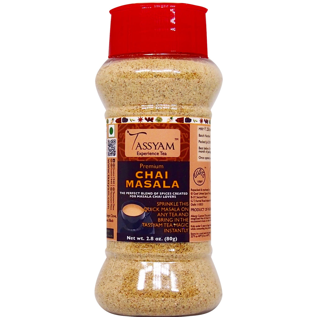 Tassyam Premium Chai Masala 80g | Dispenser Bottle, Spice, Gusto Spicerie - Best Indian Teas